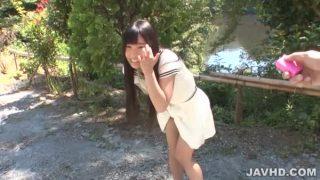 Yui Kasugano Japanese Road Horny Posing