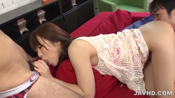 Japan Blow Job On Two Cocks With Candy Hitomi Oki | Japan Porn Movie